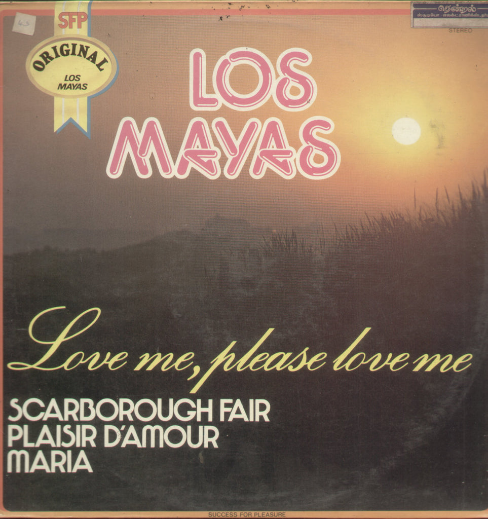 Los Mayas Love Me Please Love Me - English Bollywood Vinyl LP