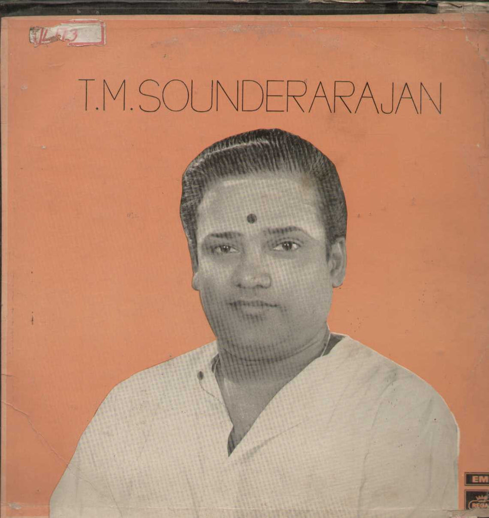 Tamil Devotional Songs Sung By T.M Sounderarajan 1969 Tamil Vinyl LP
