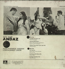 Andaz 1971 - Hindi Bollywood Vinyl LP