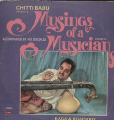 Chitti Babu Presents Musings Of A Musician Vol 3 - Instrumental Bollywood Vinyl LP