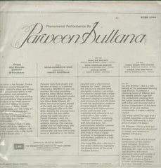Parween Sultana - Hindi Classical Bollywood Vinyl LP