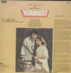 Kranti Dialogue From Manoj Kumar - Hindi Bollywood Vinyl LP