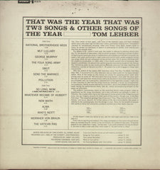 That Was The Year That Was Tom Lehrer - English Bollywood Vinyl LP