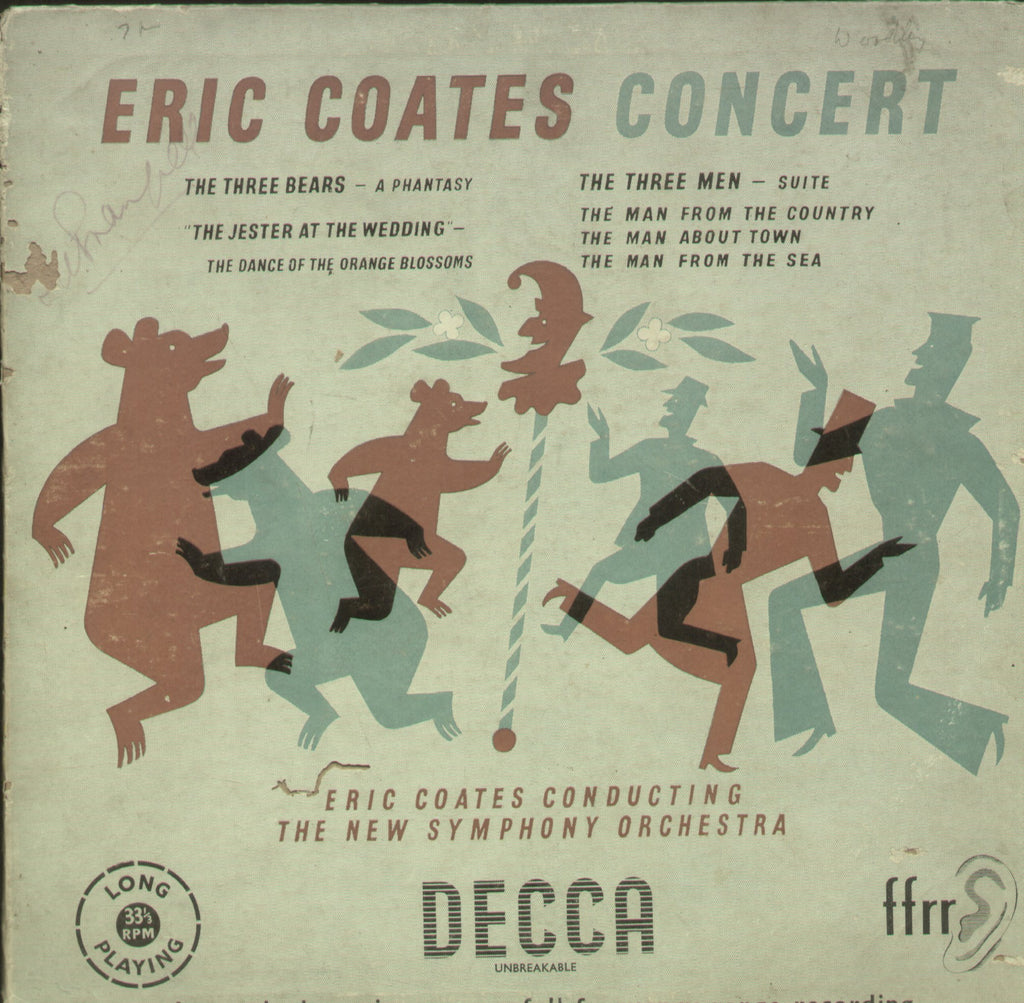 Eric Coates Concert - English Bollywood Vinyl LP