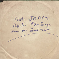 Popular Songs of Vani Jairam  -Tamil Bollywood Vinyl LP - No Sleeve