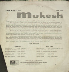 Mukesh - The best of Mukesh - Compilations Bollywood Vinyl LP