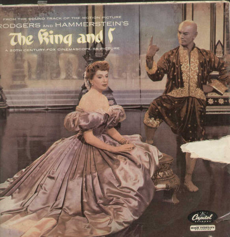 """The King And I"" 1959 Soundtrack Stars Y.Brenner D.Kerr Rodgers/Hammerstein English Vinyl LP"