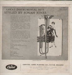 JONAH JONES - GREAT INSTRUMENTAL HITS STYLED BY 1961 CAPITOL English Vinyl LP