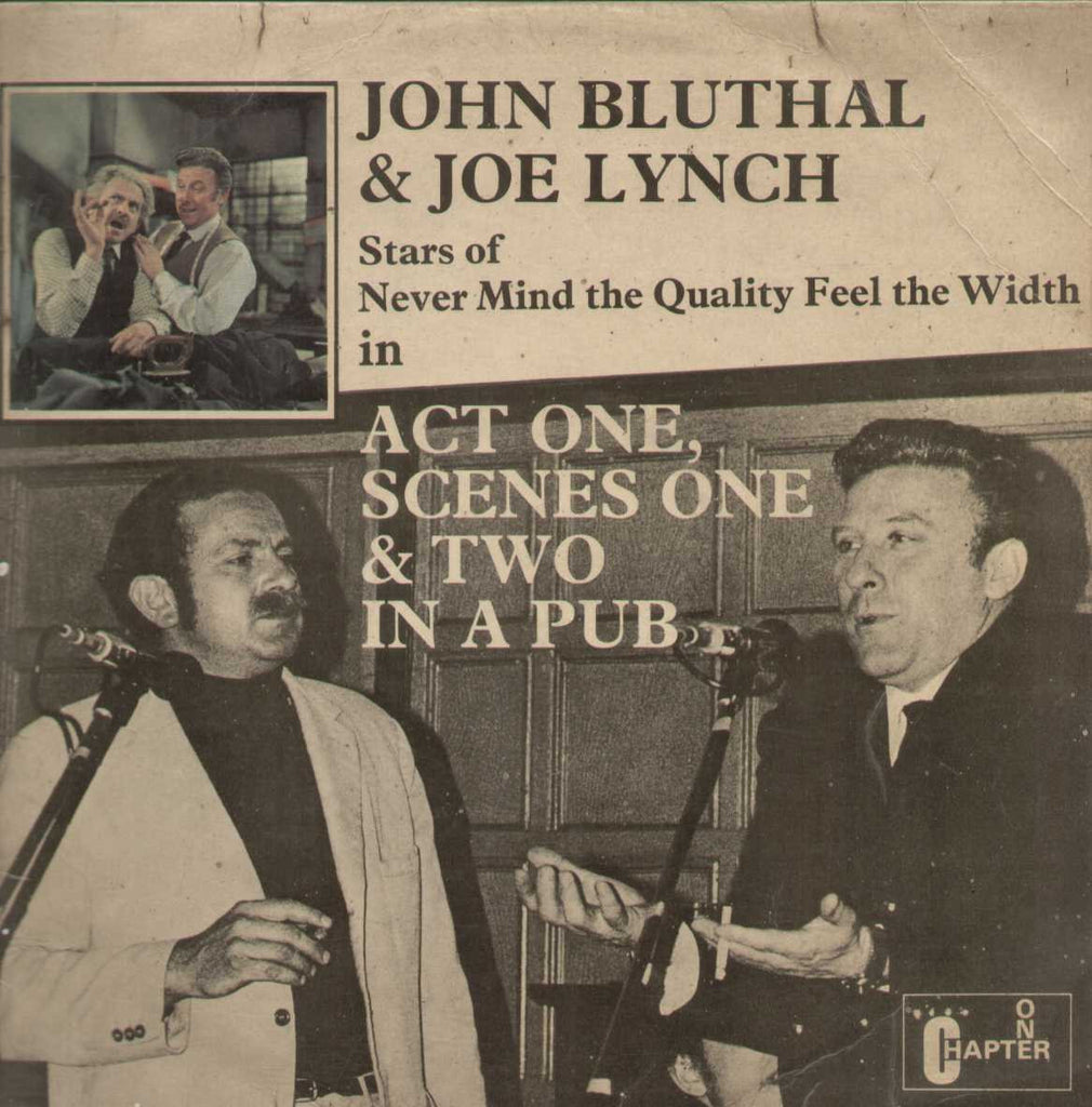 JOHN BLUTHAL AND JOE LYNCH Act One, Scene One And Two In A Pub English Vinyl LP