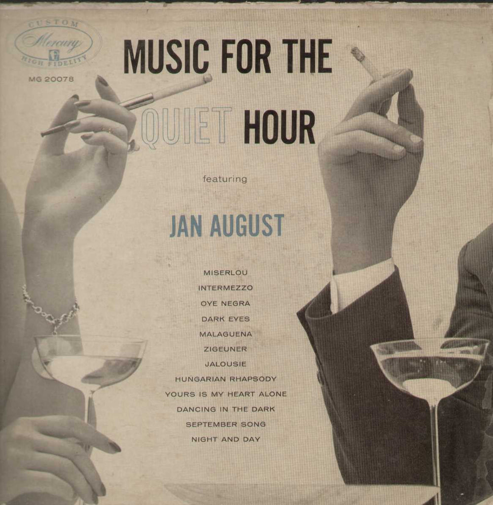 SIGNED Rare Autographed Jan August Music for the Quiet Hour English Vinyl LP