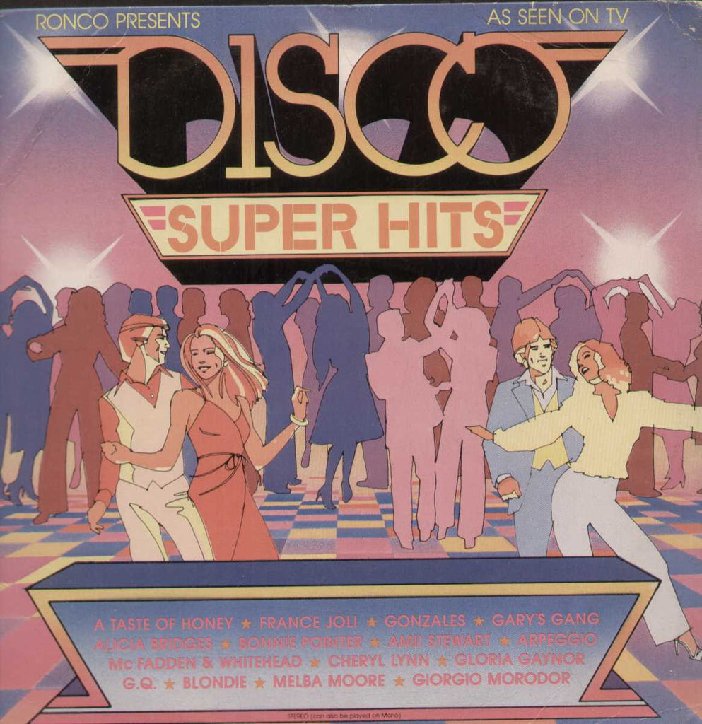 DISCO SUPER HITS-Ronco English Vinyl L P