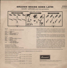 HENRY JEROME - BRAZEN BRASS GOES RARE LATIN English Vinyl L P