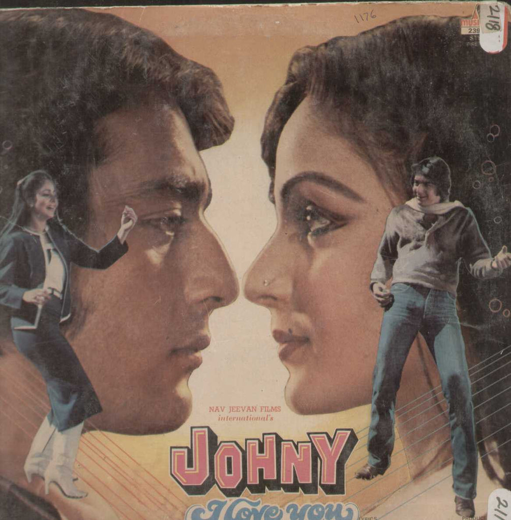 JOHNY I LOVE YOU - LP - Rajesh Roshan - Anand Bakshi English Vinyl LP