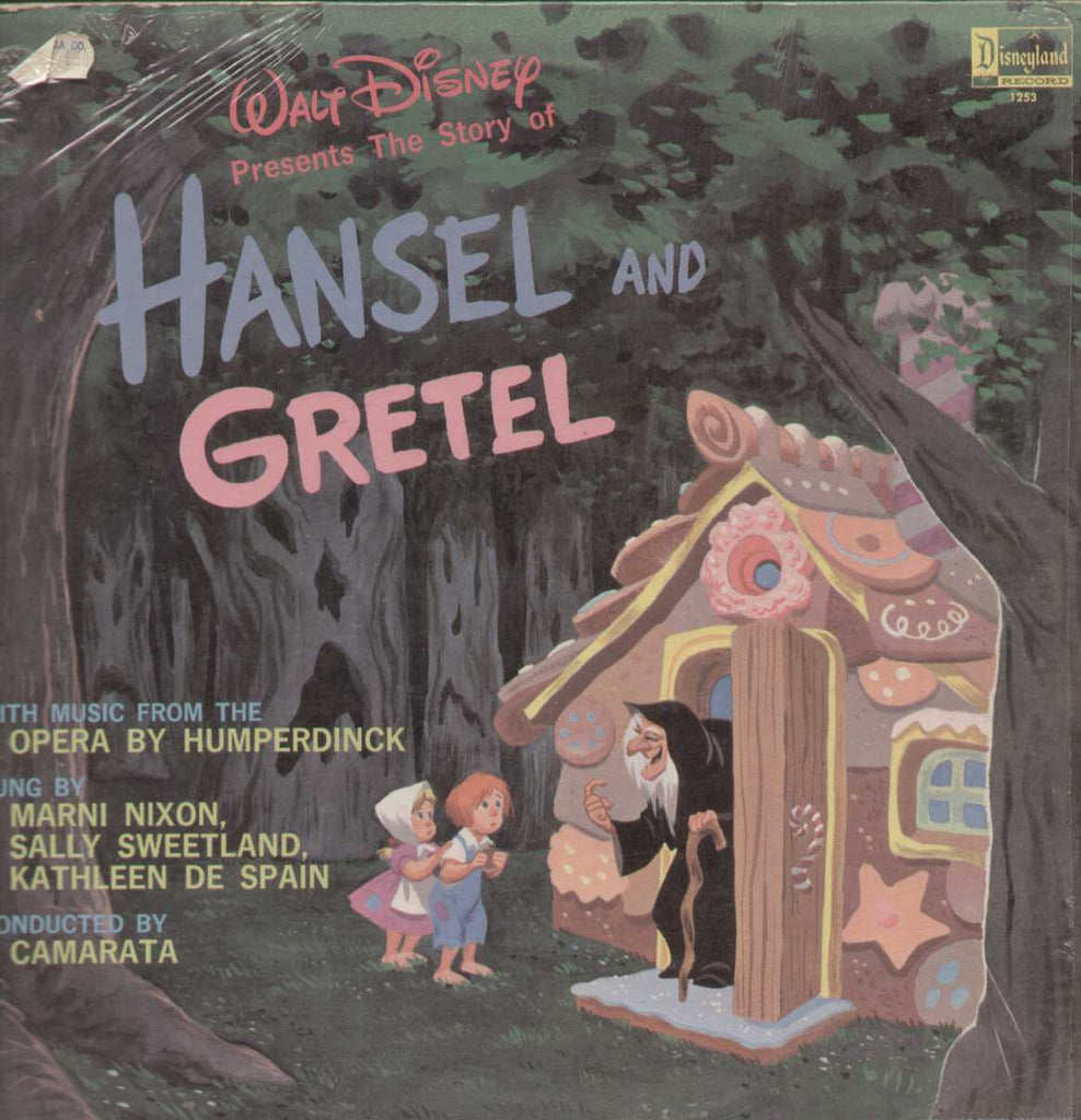 Hansel and Gretel Disneyland Record 1964  English Vinyl LP