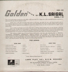 Memories of Greatness - The Golden Voice of K L Saigal - Volume 2