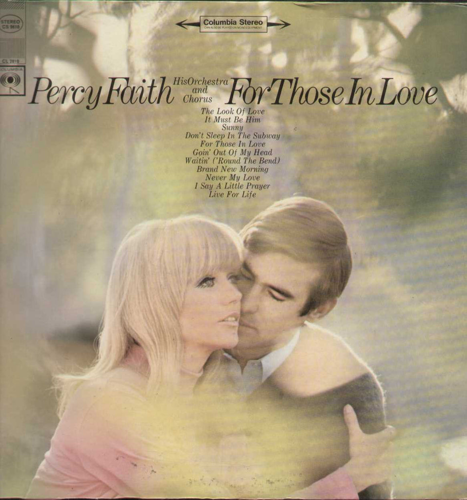 Percy Faith For Those In Love  English LP Vinyl