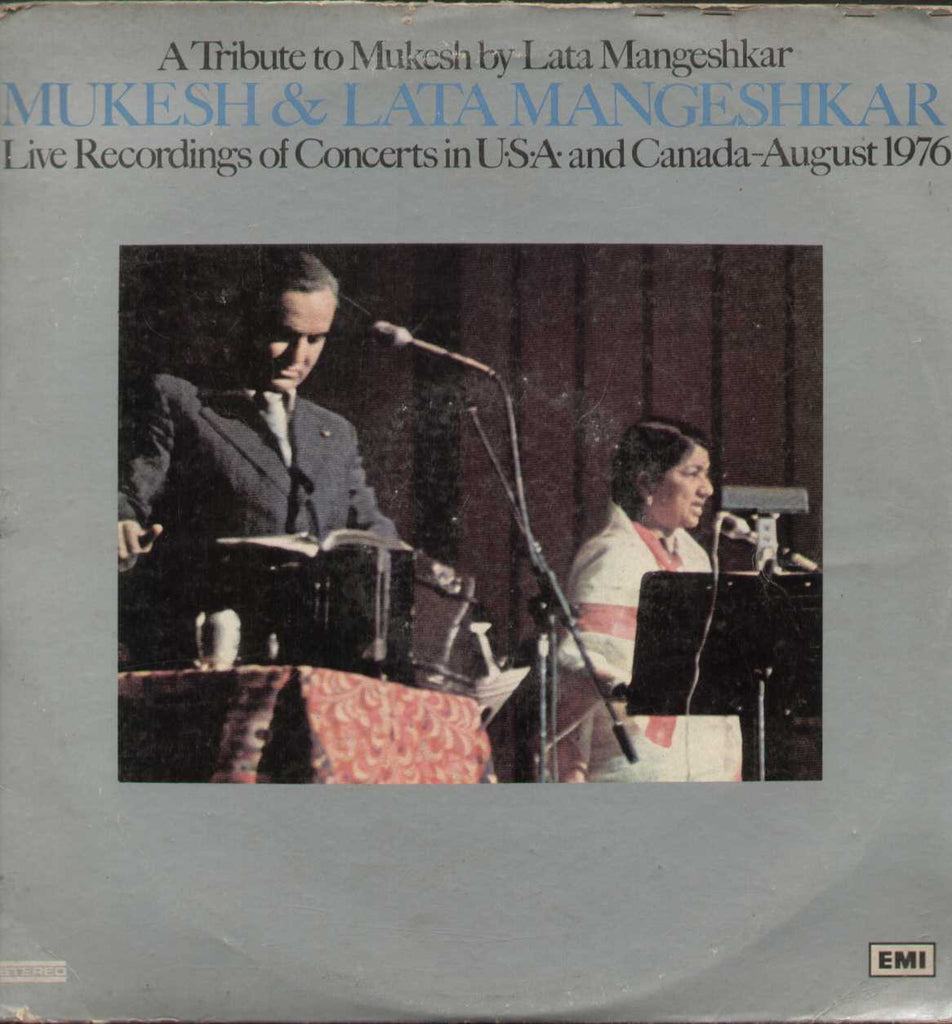 Mukesh & Lata Mangeshkar Live Recordings of Converts in USA and Canada 1976 August LP Vinyl