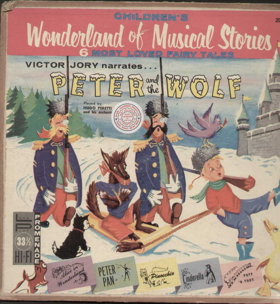 Children's Wonderland of Musical Stories -  English LP Vinyl