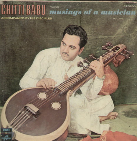 Chitti Babu Musings of a Musician - Instrumental Bollywood Vinyl LP