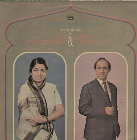 Duets To Remember From Hindi Films Lata Mangeshkar & Talat Mahmood - Hindi Bollywood Vinyl LP