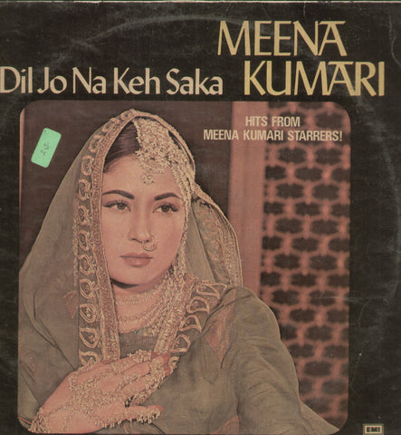 Dil Jo Na Keh Saka Meena Kumari - Hindi Bollywood Vinyl LP