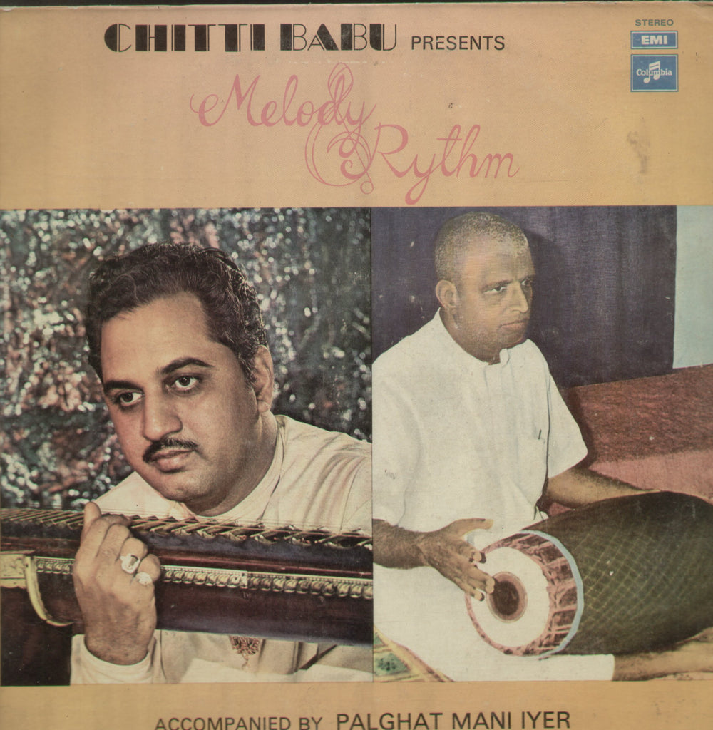 Chitti Babu Presents Melody Rythm - Instrumental Bollywood Vinyl LP