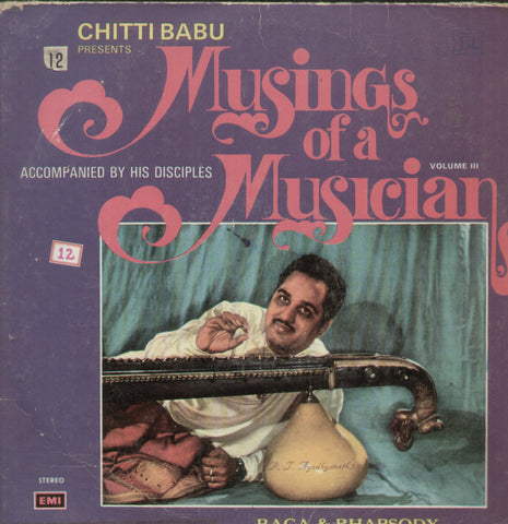 Chittibabu Presents Musings of a Musician - Classical Bollywood Vinyl LP