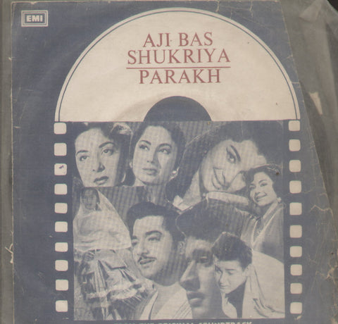 Aji Bas Sukriya/ Parakh - Hindi Bollywood Vinyl EP