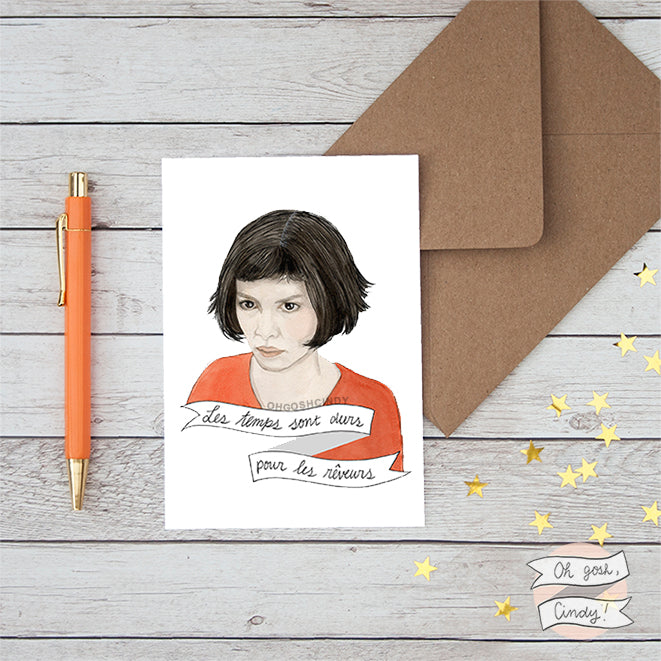 Amélie greeting card