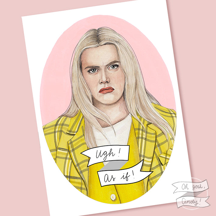 Cher Horowitz print (glow up version)