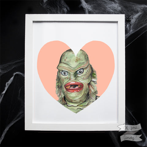 Creature of the Black Lagoon print