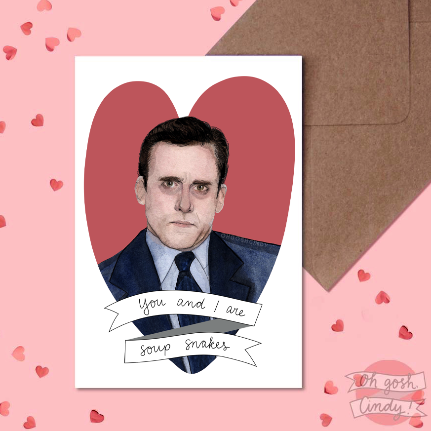 Michael Scott Valentine's card