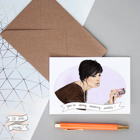 Kris Jenner greeting card