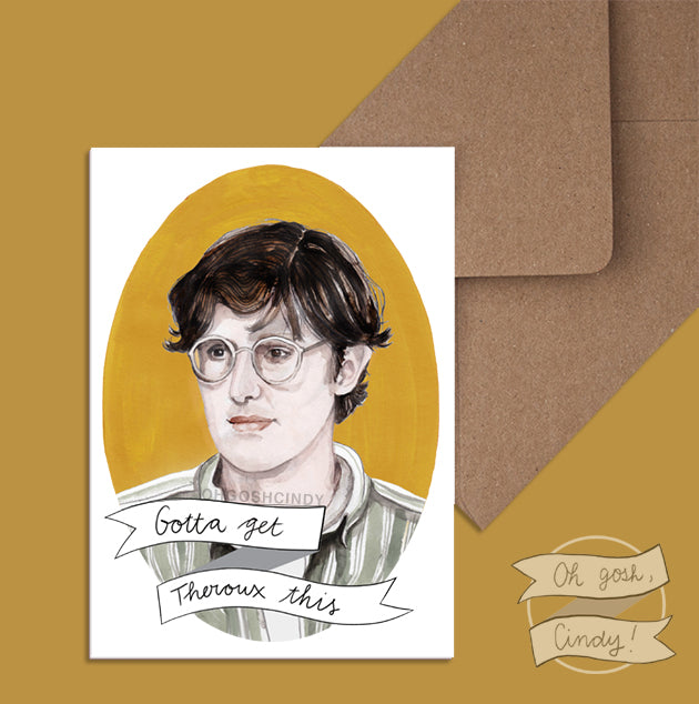 Louis Theroux greeting card
