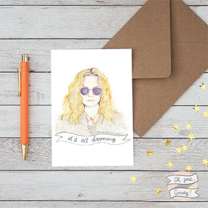 Almost Famous greeting card
