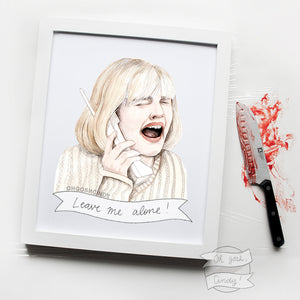 Scream, Drew Barrymore print