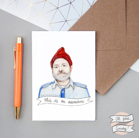 Steve Zissou greeting card