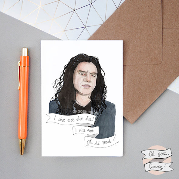 Tommy Wiseau ''The Room'' greeting card