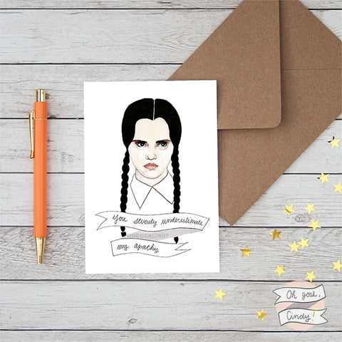 Wednesday Addams greeting card