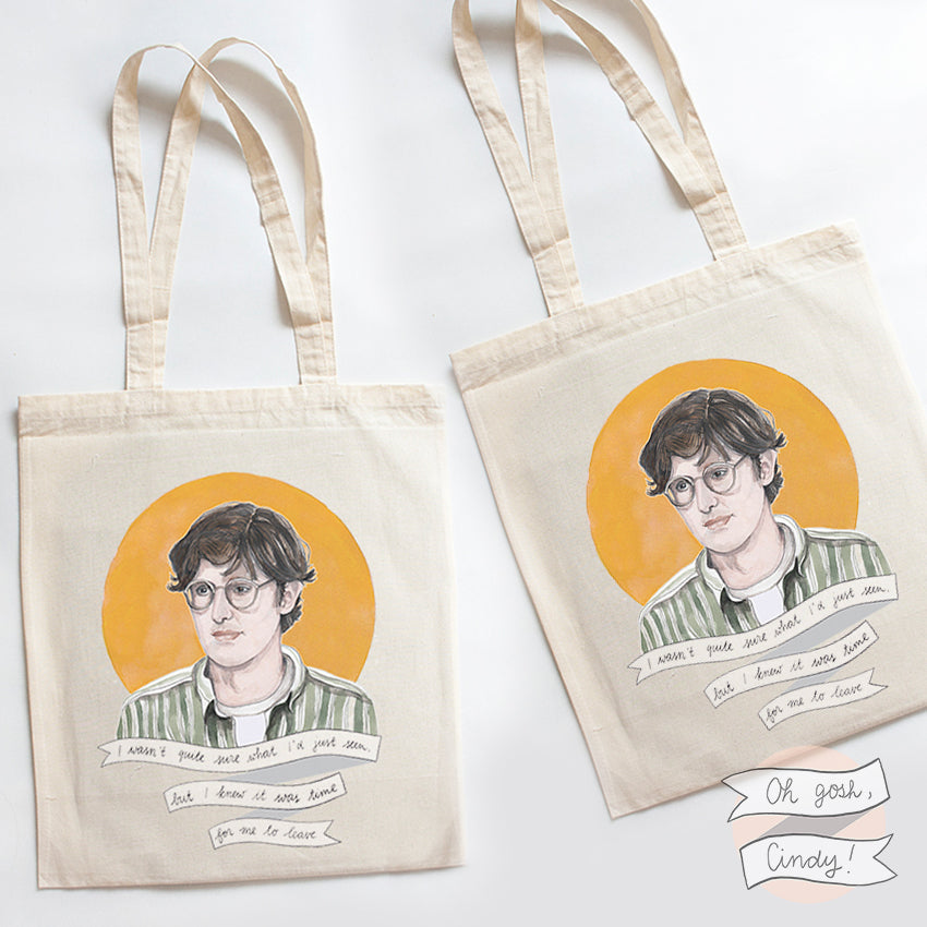 Louis Theroux tote bag