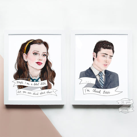 Blair and Chuck prints