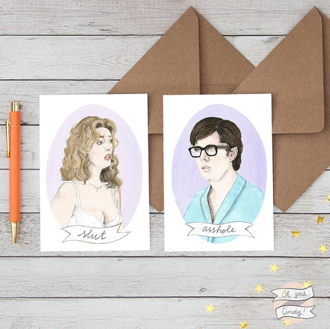 Brad and Janet greeting cards