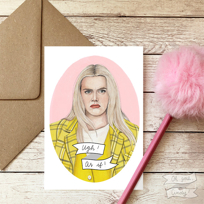 Cher Horowitz greeting card