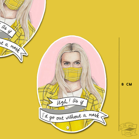 Cher Horowitz with mask - vinyl sticker