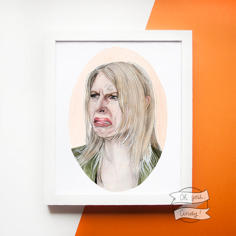 Crying Claire Danes print
