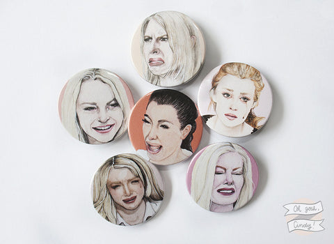 Crying celebrities buttons