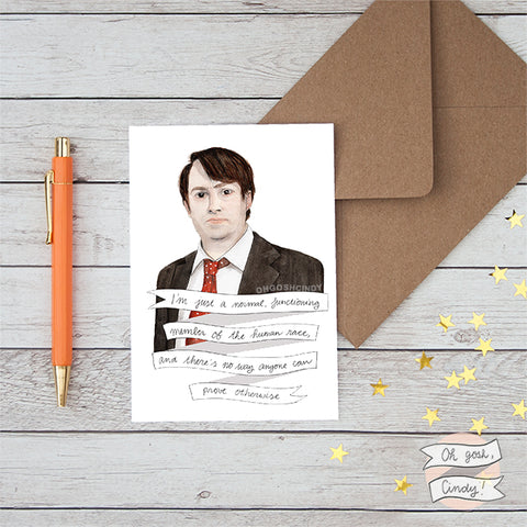 David Mitchell greeting card