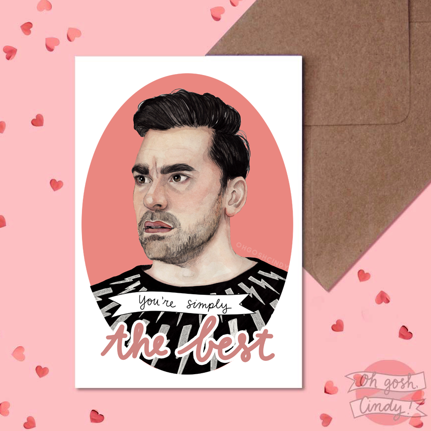 David Rose Valentine's card