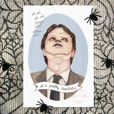 Dwight Stayin' Alive print