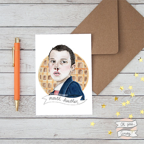 Stranger Things Eleven greeting card